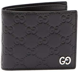 Gucci GG-debossed bi-fold leather wallet