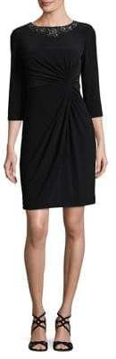 Alex Evenings Twist Front Sheath Dress