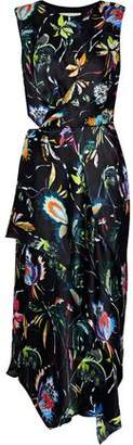 Jason Wu Asymmetric Cutout Floral-Print Silk-Georgette Dress