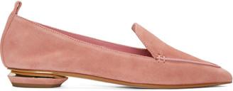 Nicholas Kirkwood Pink Suede Beya Loafers $475 thestylecure.com
