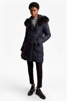 French Connection Asymetric Oversized Fit Coat