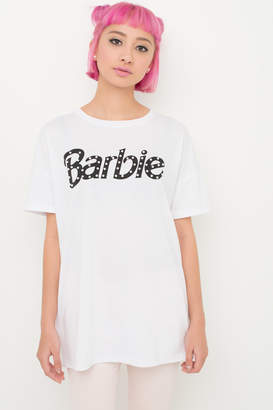 Ardene Barbie Oversized Pearl Tee