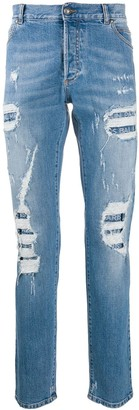 Balmain distressed straight-leg jeans