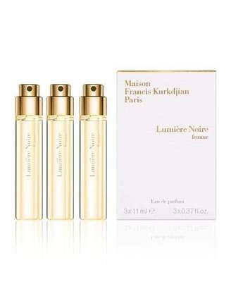 Francis Kurkdjian Lumiere Noire femme Eau de Parfum Travel Spray Refills, 3 x 0.37 oz./ 11 mL