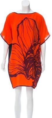 Aquilano Rimondi Aquilano.Rimondi Silk Short Sleeve Dress