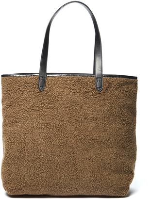 Olive Wool-Blend Commuter Tote $168 thestylecure.com