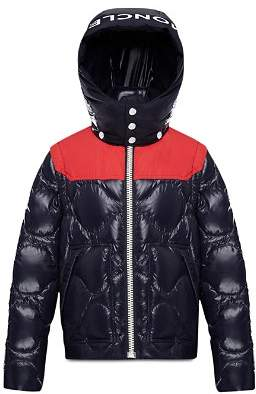 Moncler Boys' Contrast Arles 2-in-1 Puffer Down Coat - Little Kid, Big Kid