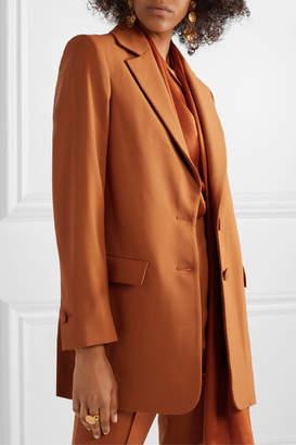 Oscar de la Renta Oversized Wool-blend Twill Blazer - Orange