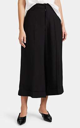 Yohji Yamamoto Regulation Women's Wide-Leg Crop Trousers - Black