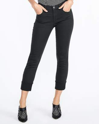 Express Mid Rise Cuffed Cropped Skinny Pant
