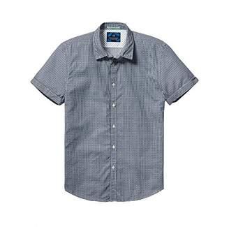 Scotch & Soda Men's Classic Shortsleeve Shirt in Cotton/Elastane Quality
