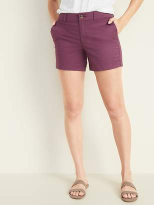 bf81019532 Old Navy Mid-Rise Twill Everyday Shorts for Women -- 5-inch inseam