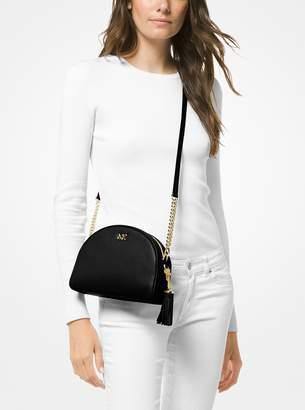 MICHAEL Michael Kors Ginny Pebbled Leather Half-Moon Crossbody