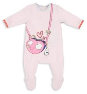 Little Marc Jacobs Baby Girl's Trompe L'Oeil Cotton Footie