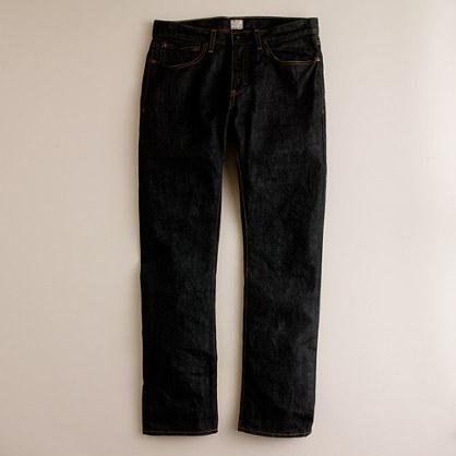 J.Crew 484 Jean In Black Resin Crinkle Wash