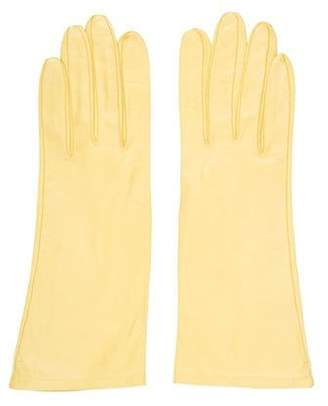 Hermà ̈s Vintage Leather Gloves Yellow Hermà ̈s Vintage Leather Gloves