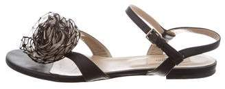 Valentino Floral Ankle Strap Sandals