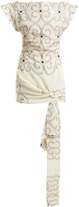 Jacquemus Espiral embroidered tie-front dress