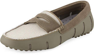 Swims Men's Rubber/Suede Penny Loafers