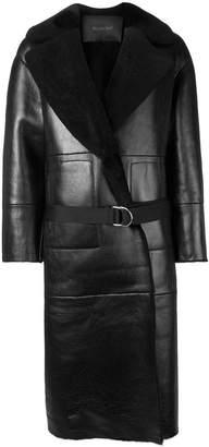Blancha shearling leather coat