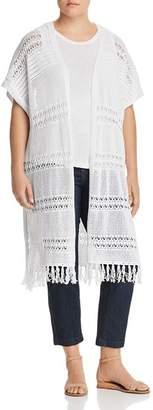 Lysse Plus Sabra Crochet Duster Cardigan