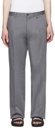 Dolce & Gabbana Grey Cotton Trousers