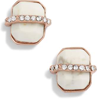 Vince Camuto Trapped Semiprecious Stud Earrings