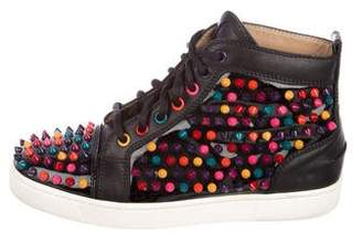 85ad45a60cf ... purchase pre owned at therealreal christian louboutin studded lou  sneakers fdd29 d409e