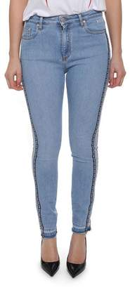 MSGM Side Logo Skinny Jeans