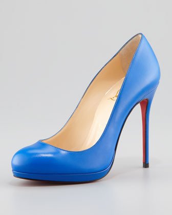 Christian Louboutin Filo Leather Red Sole Pump, Blue Sapphire