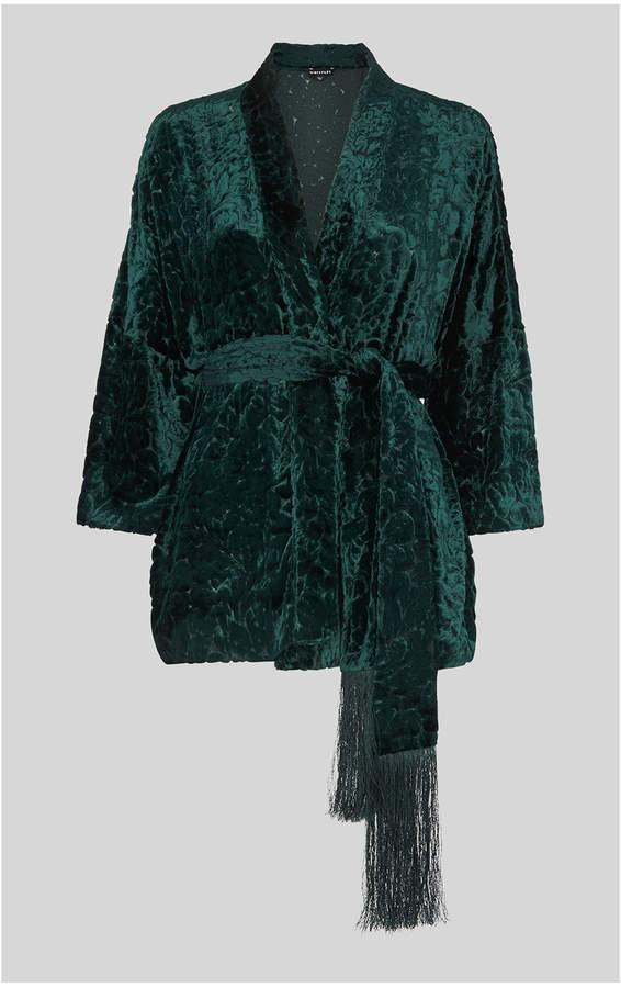 Evony Velvet Kimono Jacket
