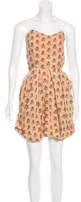 By Malene Birger Floral Print Strapless Dress