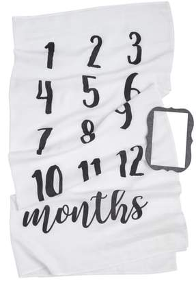 Mud Pie Monthly Milestone Blanket & Frame Set