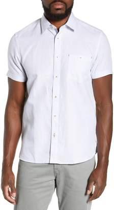 712290ac6727fa Ted Baker Graphit Slim Fit Cotton   Linen Sport Shirt