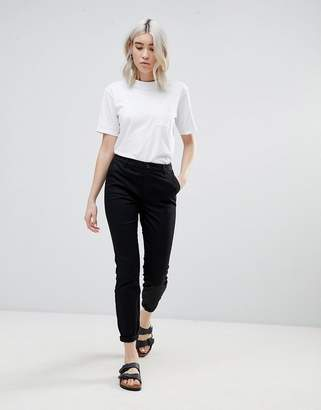 Asos DESIGN skinny chino pants with roll up