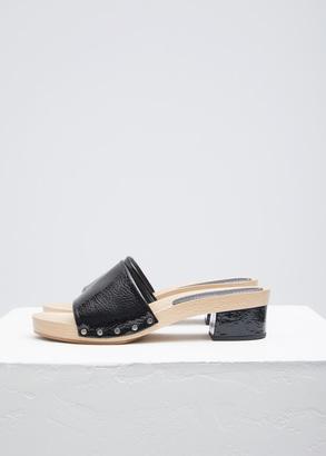 Proenza Schouler black simple slide wedge sandal $425 thestylecure.com