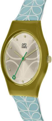 Orla Kiely Watch, Sky Blue Strap With Buckle Closure