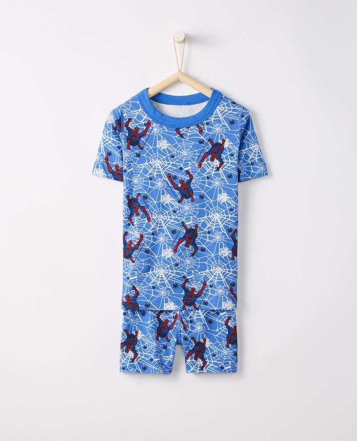 Hanna Andersson Marvel Spider-Man Short John Pajamas In Organic Cotton