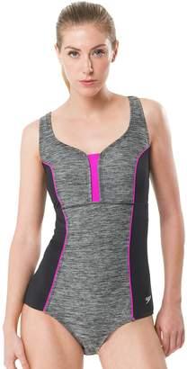 Speedo Women's Space-Dye One-Piece Swimsuit