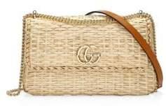 Gucci Straw Small Shoulder Bag