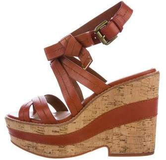 Marc by Marc Jacobs Leather Wedge Sandals