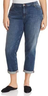 Eileen Fisher Plus Boyfriend Jeans in Sky Blue