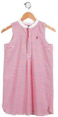 Ralph Lauren Girls' Striped Sleeveless Dress w/ Tags