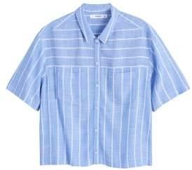 MANGO Lightweight chest-pocket shirt