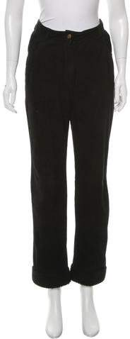 Christian Dior Suede Shearling-Trimmed Pants