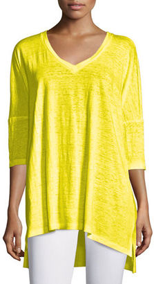 Eileen Fisher Linen V-Neck Boxy Tunic, Petite $62 thestylecure.com