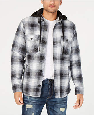 American Rag Men's Plaid Hooded Shirt Jacket