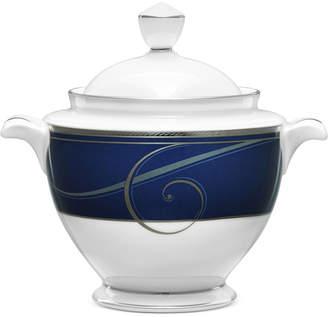 Noritake Platinum Wave Indigo Porcelain 2-Pc. Lidded Sugar Dish
