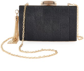 La Regale Lenore By Lenore by Sparkle Pleated Jacquard Minaudiere