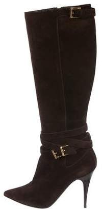 Burberry Suede Knee-High Boots